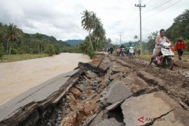 Banjir Kotanopan juga rusak saluran irigasi
