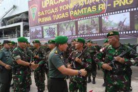 Prajurit Yonif 121/MK rampungkan tugas pengamanan perbatasan RI-PNG