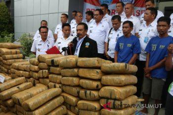 BNN amankan 222 ganja di Tebingtinggi