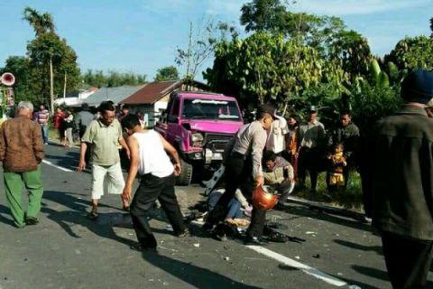 Satu tewas kecelakaan beruntun