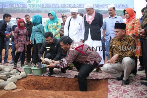Gubernur peletakan batu pertama RSUD Panyabungan