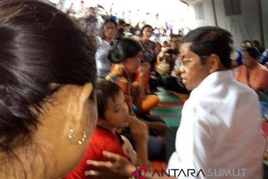 Mensos temui keluarga korban kapal tenggelam