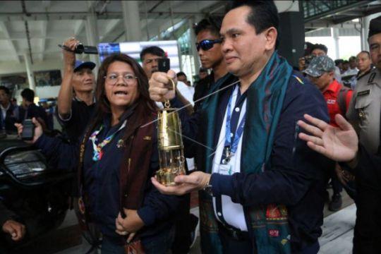 Polda sumut amankan kirab obor Asian Games