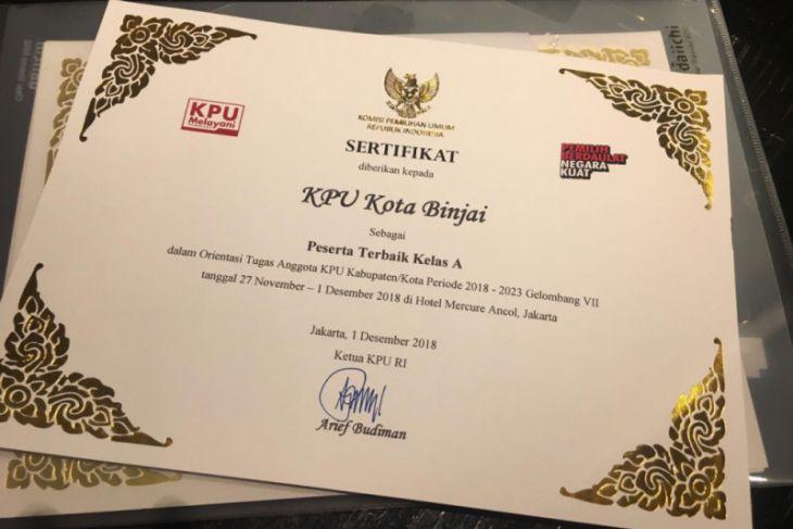 KPU Binjai terbaik orientasi tugas se-Indonesia