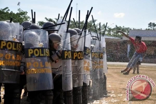 Simulasi Pengamanan Pilkada di Kabupaten Gorontalo