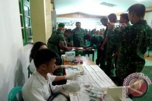 Anggota Kodim 1304 Gorontalo Tes Urin Mendadak