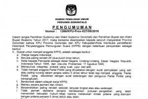 Pengumuman Perekrutan KPPS