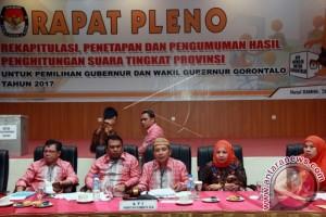 Pleno Penetapan Hasil penghitungan Suara Pilkada Gorontalo