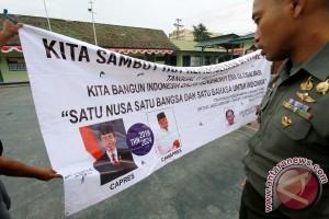 Kodim 1304 Gorontalo Turunkan Spanduk Capres Jokowi-Gatot Nurmantyo