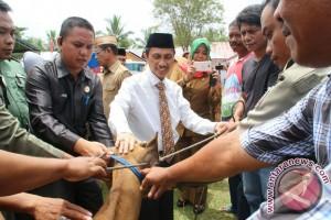 Pemkab Gorontalo Serahkan Bantuan 154 Ekor Sapi