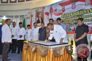 Kepala Daerah Di Gorontalo Tandatangani Pencegahan Korupsi Terintegrasi