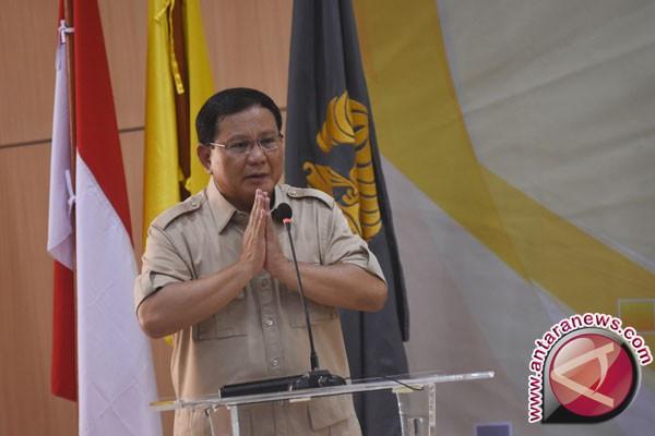 April Partai Gerindra Akan Deklarasikan Prabowo Sebagai Capres