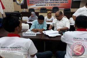 Baru Perindo Yang Berkas Administrasinya Dapat Diterima KPU Kota Gorontalo