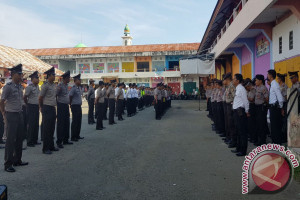 Polisi Gorontalo Gelar Apel Di Pasar Tradisional