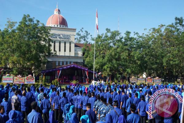 Upacara peringatan HUT ke-15 Kabupaten Bone Bolango