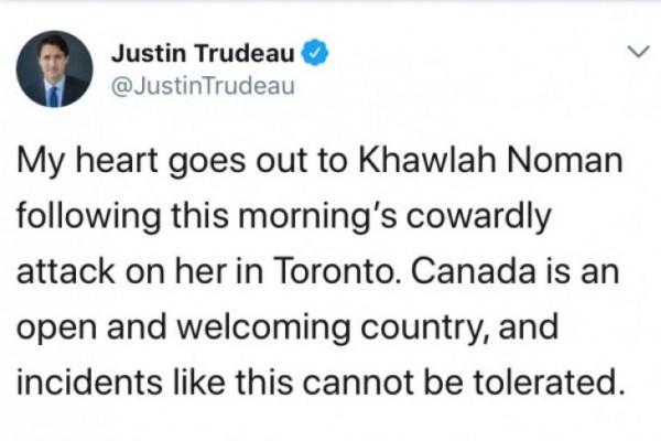 Serangan Kepada Gadis Berhijab di Toronto, Ini Kata PM Kanada