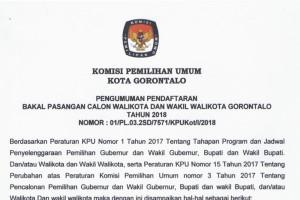 Pilwako Gorontalo 2018