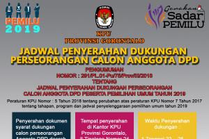 Jadwal Penyerahan Dukungan Calon Anggota DPD RI