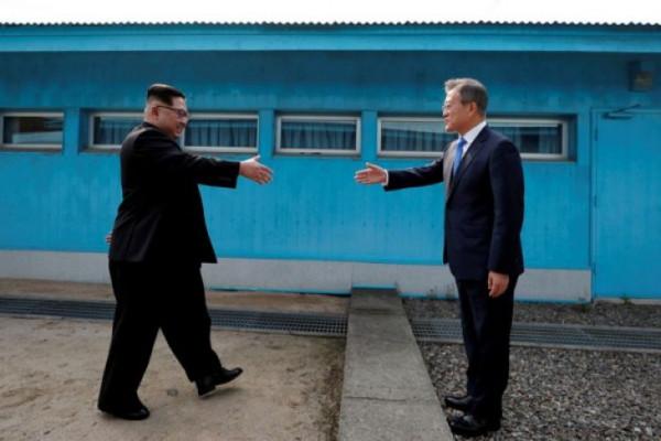 Jelang Pertemuan Trump-Kim, Pemimpin Korut dan Korsel Lakukan Pertemuan