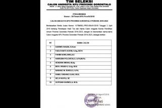 Calon Anggota KPU Provinsi Gorontalo Jalani Uji Kelayakan