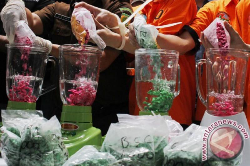 Polda Riau Musnahkan Narkoba Senilai Rp45 Miliar