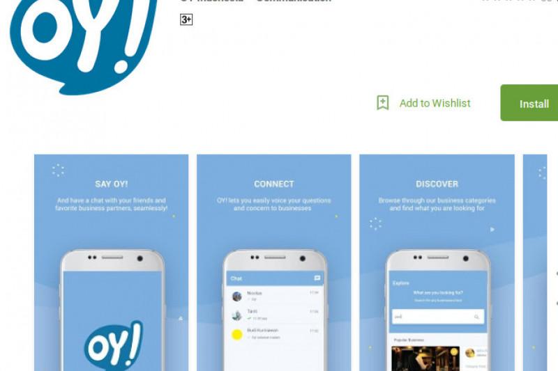 Aplikasi OY! Bisa Chat dan Transfer Uang