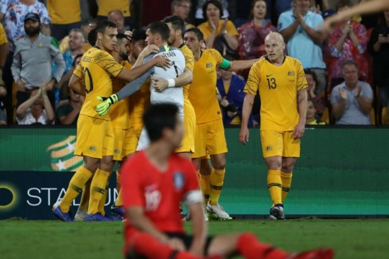 Gol Luongo Amankan Hasil Imbang 1-1 Australia Dengan Korsel