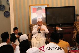 Ma'ruf Amin Ajak Santri Bantu Klarifikasi Isu Fitnah