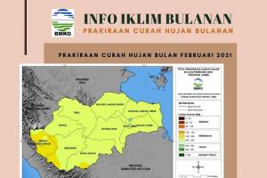 Prakiraan Curah Hujan pada Februari 2021