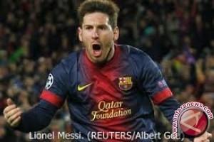 Messi cetak gol ke- 100nya di kompetisi Eropa