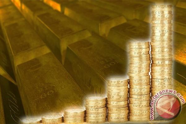 Emas sedikit lebih rendah di tengah kenaikan Dow