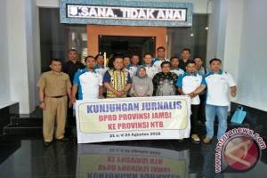 DPRD dan jurnalis Jambi kunjungi NTB bahas pariwisata