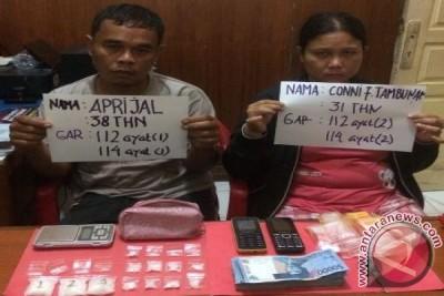Polresta Jambi tangkap `pasutri` pengedar narkoba