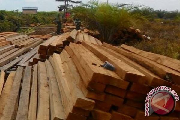 Korem Gapu Jambi amankan ribuan kayu ilegal