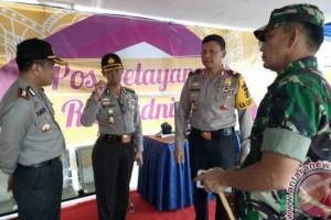 Lebaran 2017 - Kapolda Jambi cek pos pengamanan lebaran