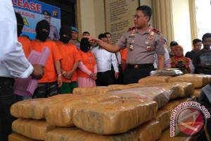 Polda selama sepekan tangkap tujuh tersangka narkoba