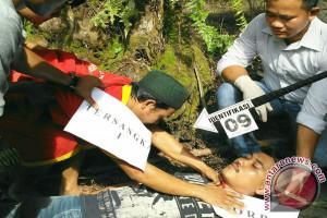 Polres Batanghari rekonstruksi pembunuhan Azro'i