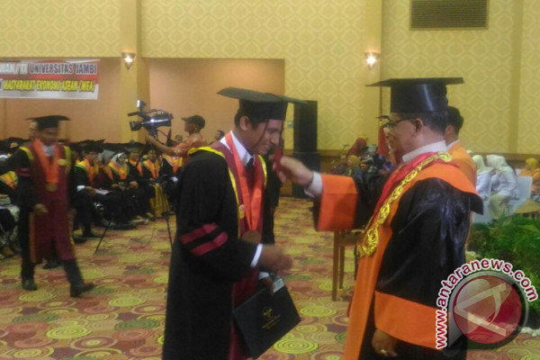 Universitas Jambi Mewisuda 871 Mahasiswa  (video)