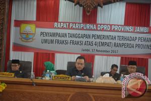 DPRD Bentuk Pansus Bahas Empat Ranperda Provinsi