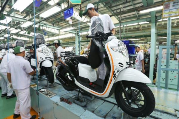 Ekspor motor Honda melonjak pada triwulan pertama 2018
