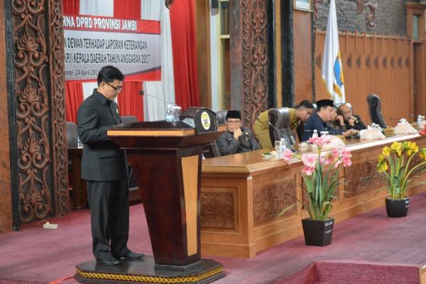 LKPJ Gubernur Jambi 2017 dipenuhi catatan dewan