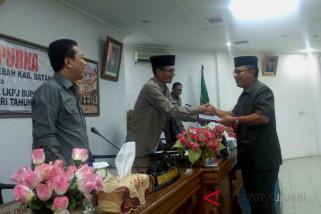 Paripurna DPRD Batanghari Bupati sampaikan LKPD-LKPJ 2017