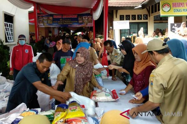 Bazar Dharma Wanita Jambi jual daging Rp70.000 (video)