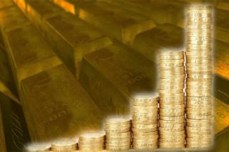 Harga emas lanjutkan kenaikan, dolar melemah