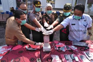 Kejaksaan Negeri Batanghari musnahkan barang bukti narkoba