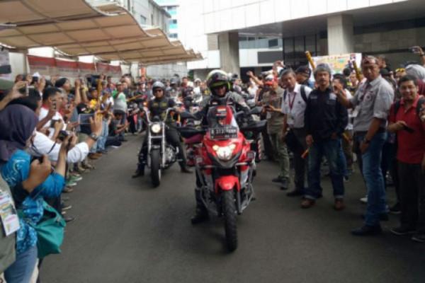 Pengendara motor Indonesia Stephen Langitan singgah di Swiss