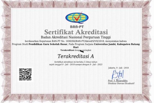 Prodi PGSD Unja raih akreditasi A