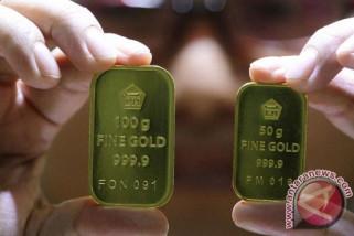 Harga emas turun, investor puas dengan lonjakan pasar saham