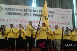 Rektor Unja dikukuhkan menjadi Ketua Iluni-UI Jambi