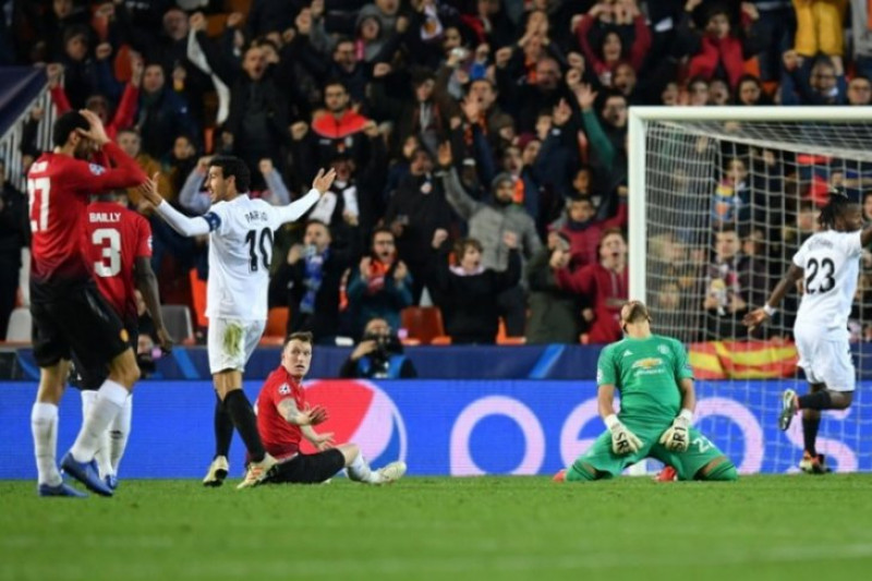Gol bunuh diri bantu Valencia kalahkan Manchester United